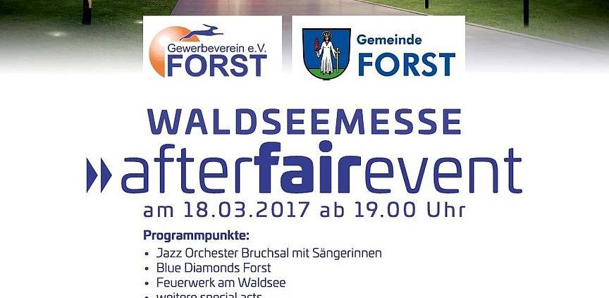"""AFTER FAIR PARTY"" ZUR WALDSEEMESSE FORST 2017 1"