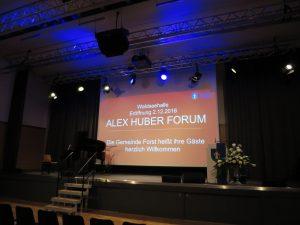 Einweihung Alex Huber Forum, Forst 7