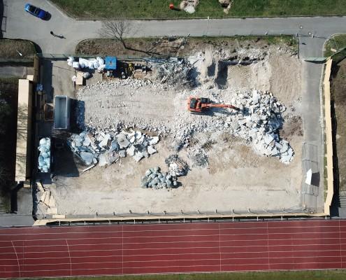 Neubau Albgaustadion Ettlingen: Alte Tribüne ist abgerissen 3