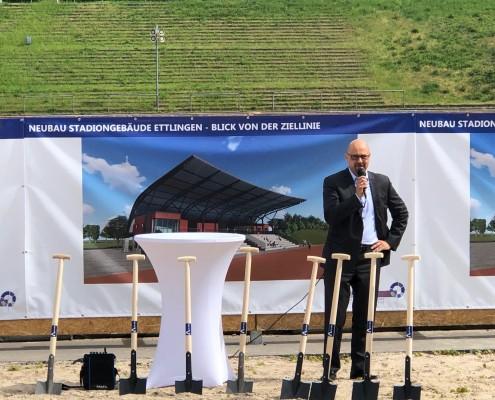 Neubau Albgaustadion Ettlingen: Spatenstich 4