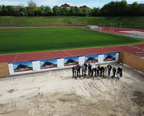 Neubau Albgaustadion Ettlingen: Spatenstich 1