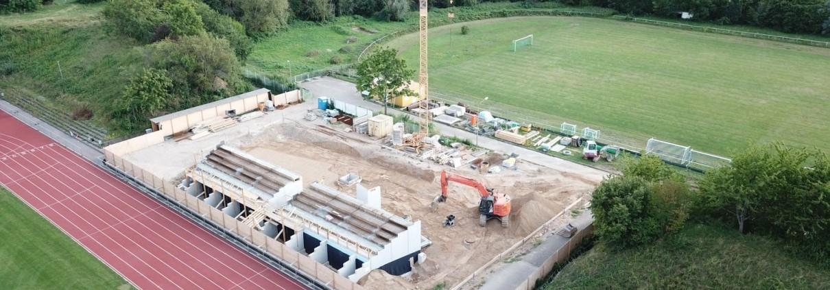 Neubau Albgaustadion Ettlingen: Der Rohbau hat begonnen 1