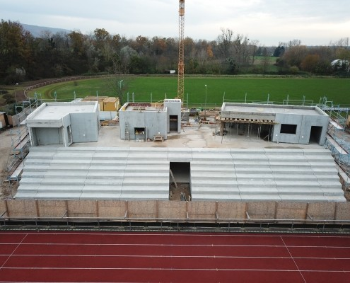 Neubau Albgaustadion Ettlingen: Der Rohbau ist abgeschlossen 3
