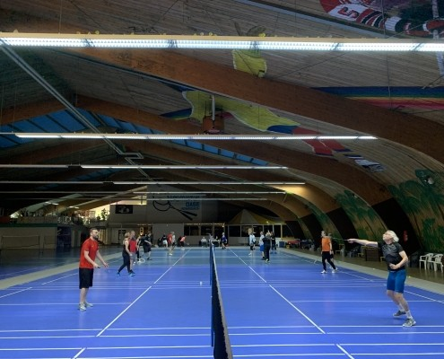Badminton-Turnier mit unseren Elektro- und HLS-Planern Heimann Ingenieure (Berlin) aus der Niederlassung in Lorsch 1