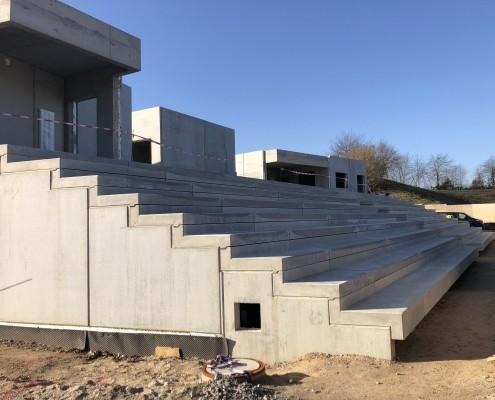 Neubau Albgaustadion: Handwerker-Richtfest am 04.12.19 2